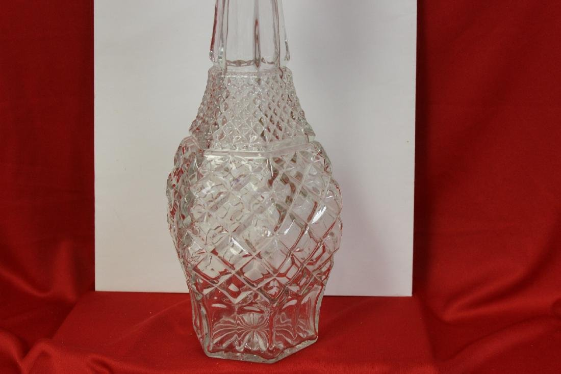 A Press Glassed Decanter - 3