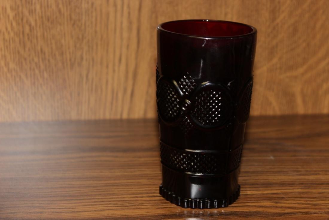Avon Ruby Red Cape Cod Beverage Glass
