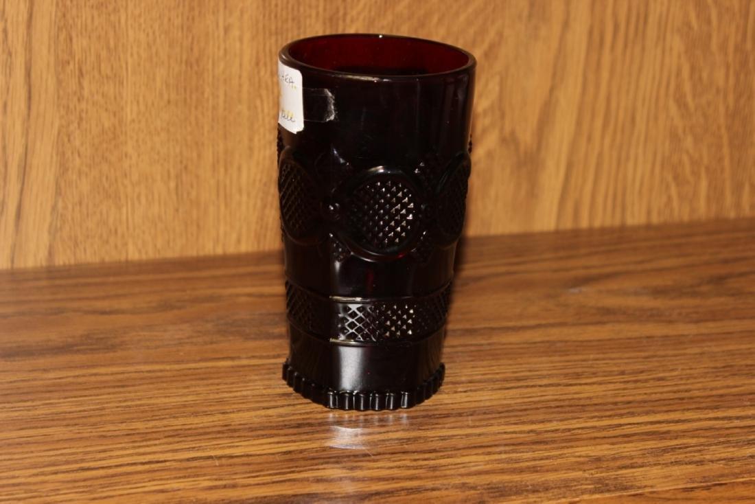 Avon Ruby Red Cape Cod Beverage Glass - 3