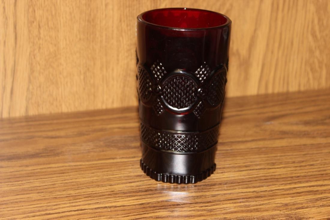 Avon Ruby Red Cape Cod Beverage Glass - 4