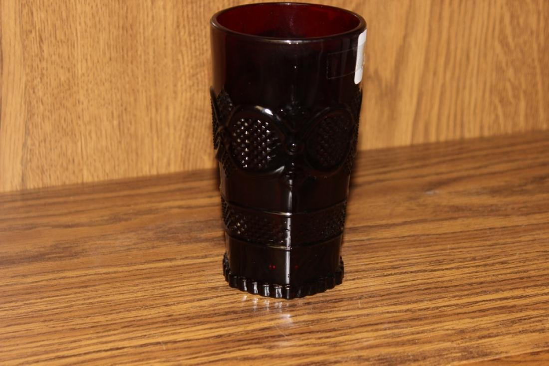 Avon Ruby Red Cape Cod Beverage Glass - 6
