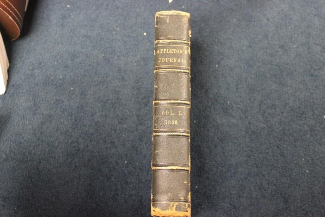 Leather Bound Book - Appleton Journal -1869, Vol. 1.