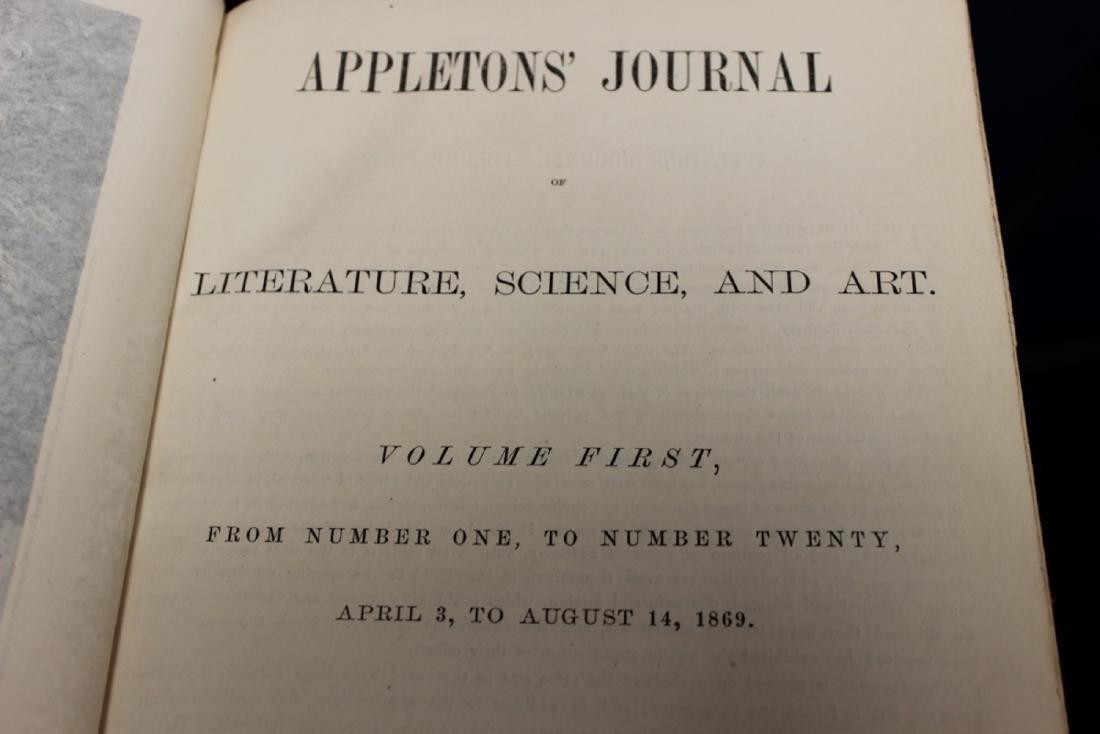 Leather Bound Book - Appleton Journal -1869, Vol. 1. - 4