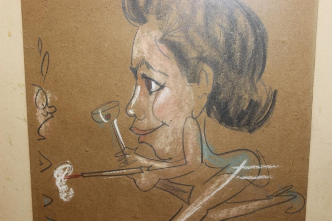 A Charcol / Pastel On Paper - Midcentury - 3