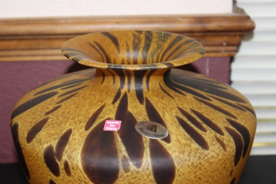 An Italian Tortoise Shell Glazed Art Glass Vase - 2