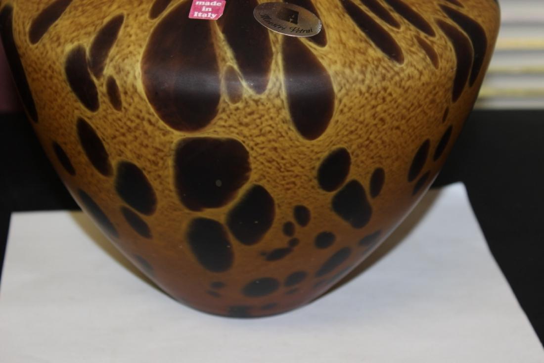 An Italian Tortoise Shell Glazed Art Glass Vase - 3