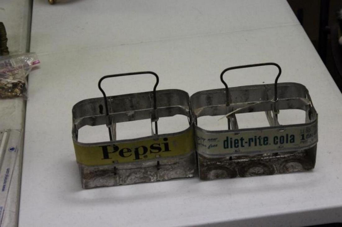 Lot of 2 Rare Soda Carriers - 2