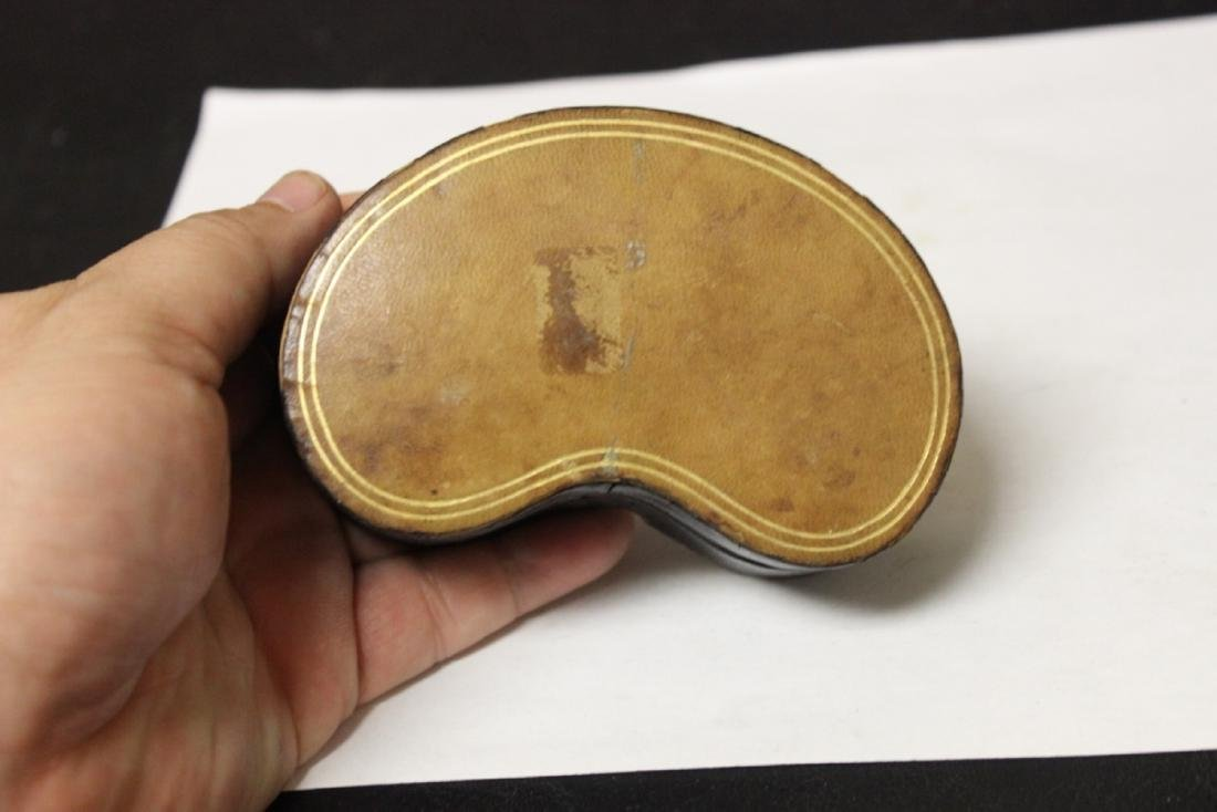 A Leather Kidney Box