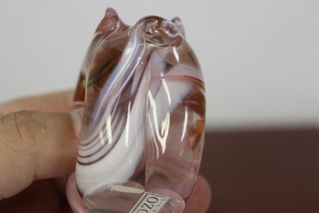 A Gozo Glass Pig Figurine - 7
