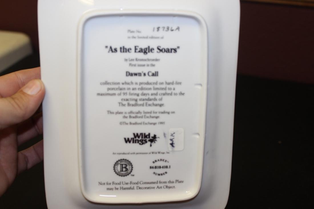 "Collectors Plate ""Dawn's Call As The Eagle Soar's"" by - 2"