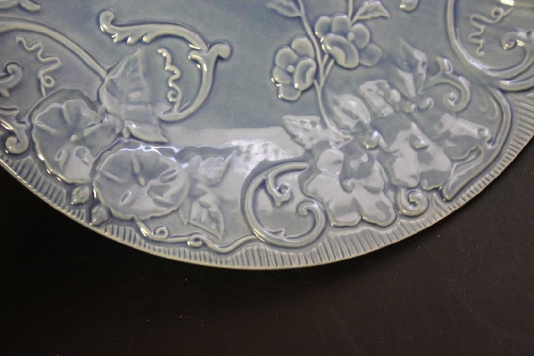 A Majolica Style Portugal Pottery Charger by Bordallo - 5