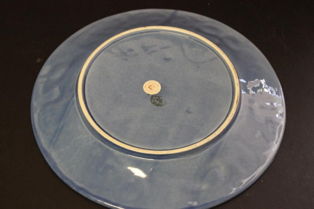 A Majolica Style Portugal Pottery Charger by Bordallo - 9