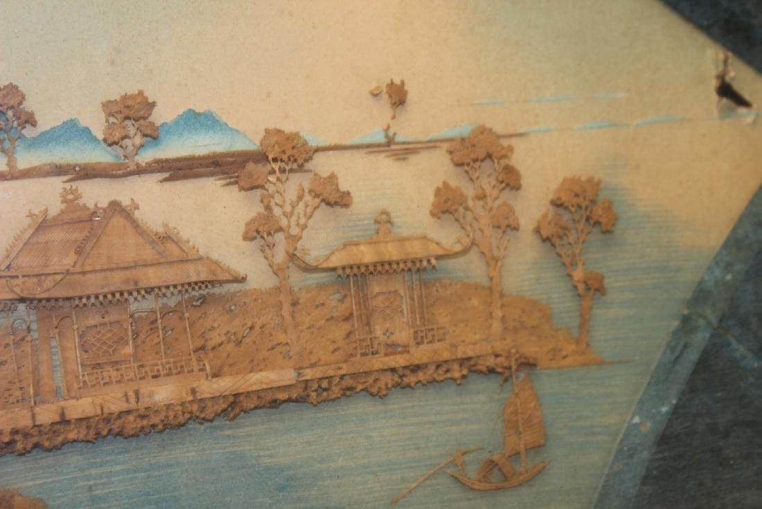 An Antique Frame Chinese Cork Painting - 10