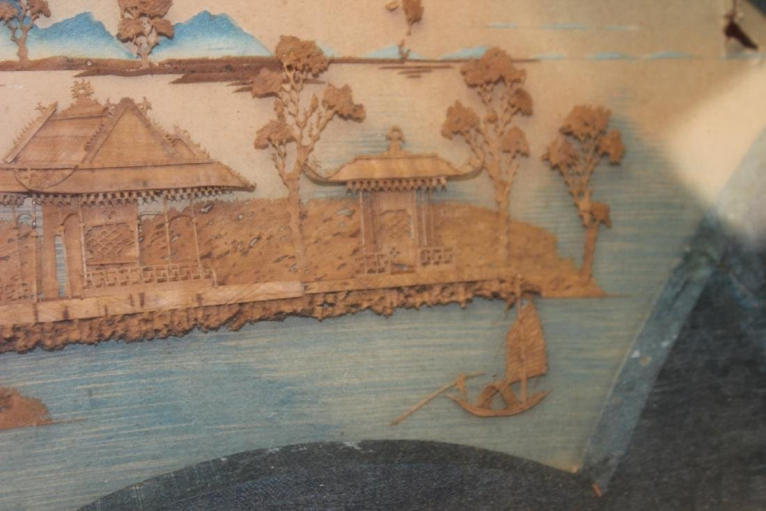 An Antique Frame Chinese Cork Painting - 5