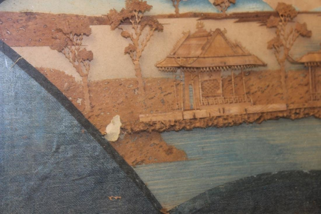 An Antique Frame Chinese Cork Painting - 7