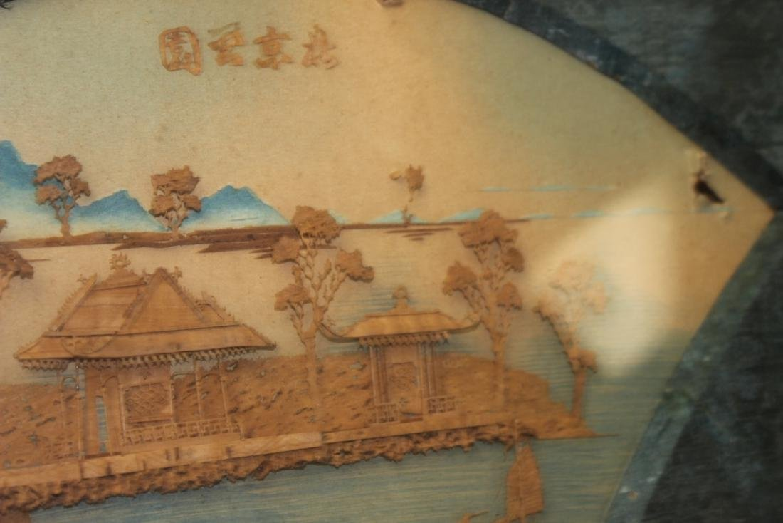An Antique Frame Chinese Cork Painting - 9