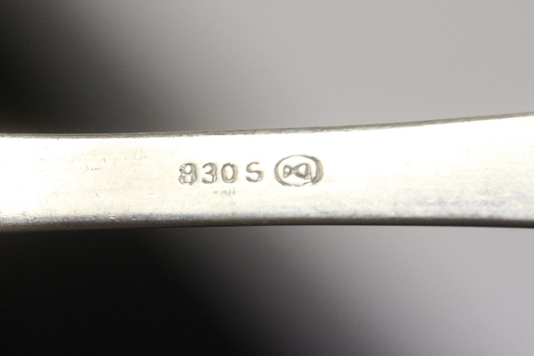 "An 830 Norway Silver ""Moss"" Spoon - 4"