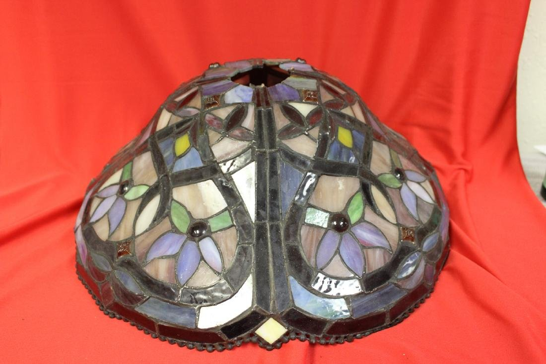 A Stain Glass Lamp Shade