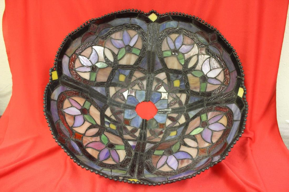 A Stain Glass Lamp Shade - 3