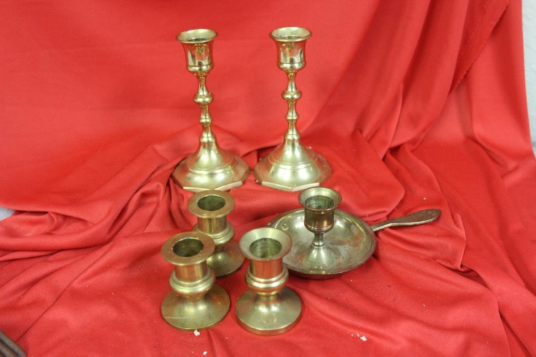 Lot of 6 Brass Candle Sticks