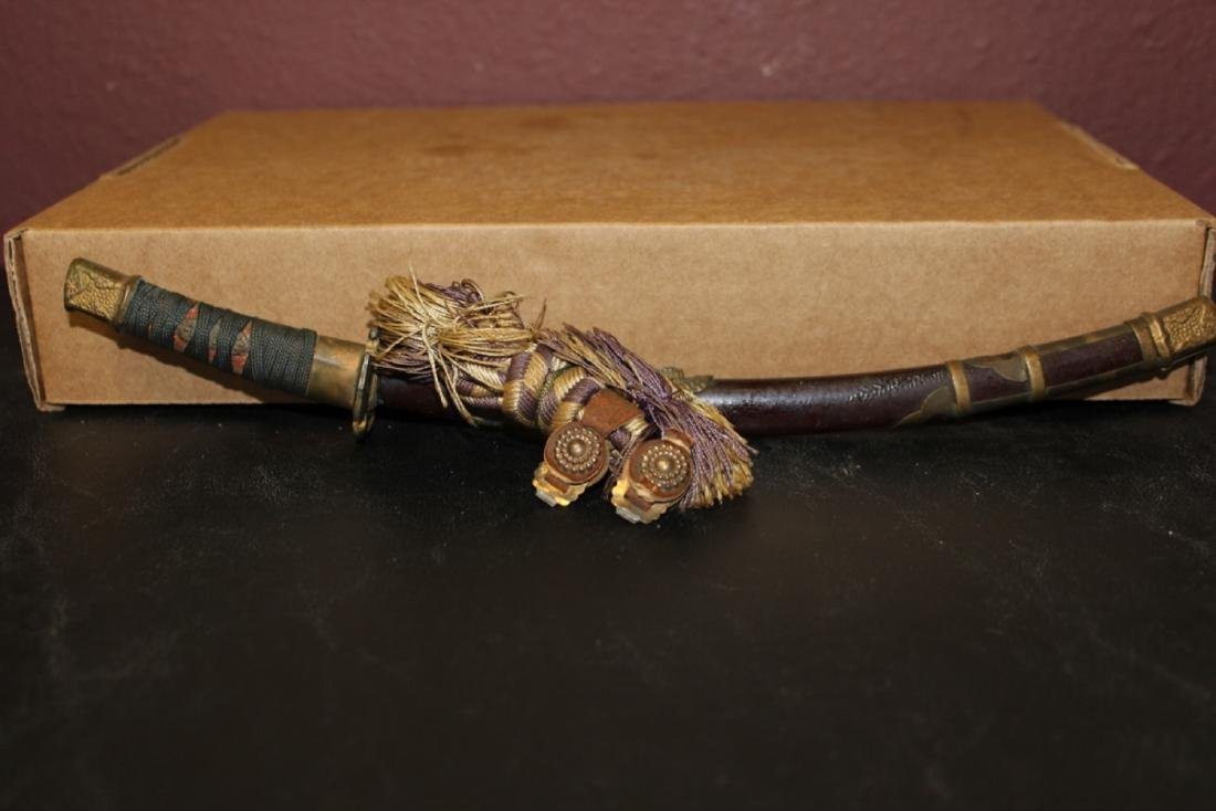A Vintage/Antique Miniature Sword with Scabboard - 2