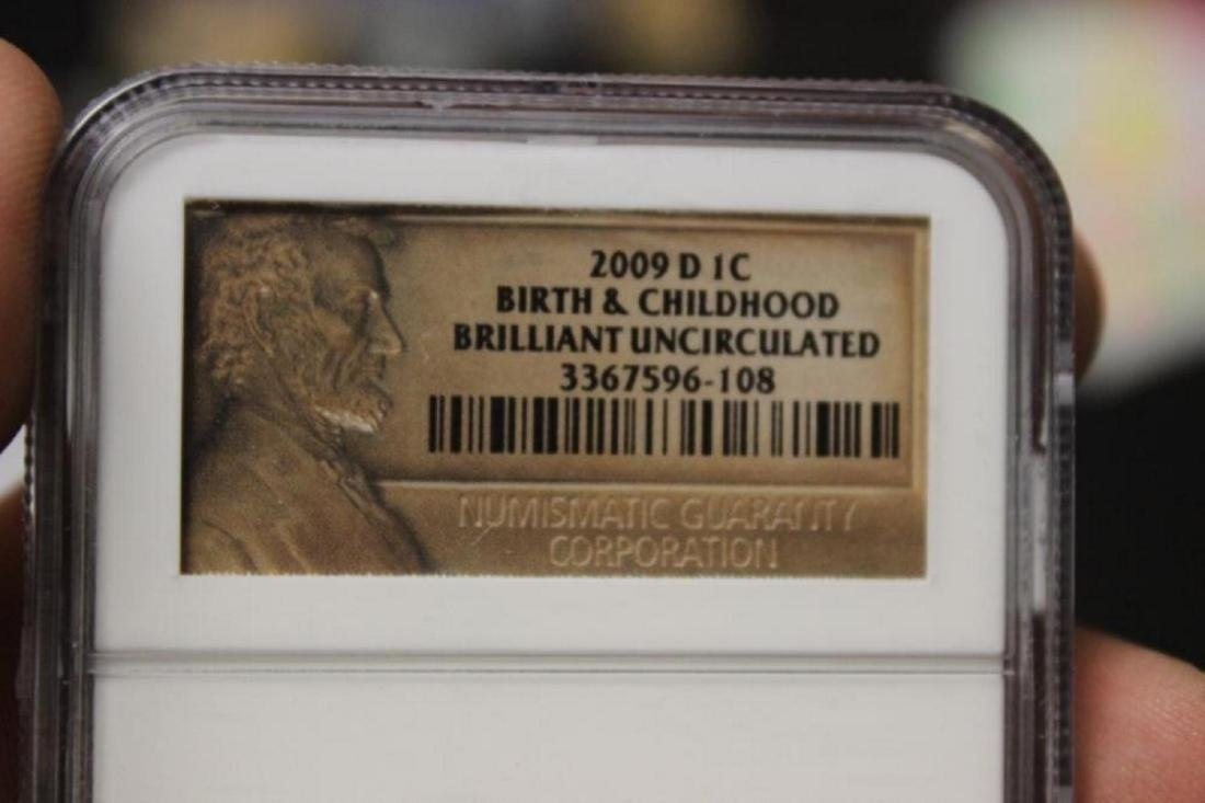 Lot of 2 2009 P + D NGC Slap Lincoln Penny - 6