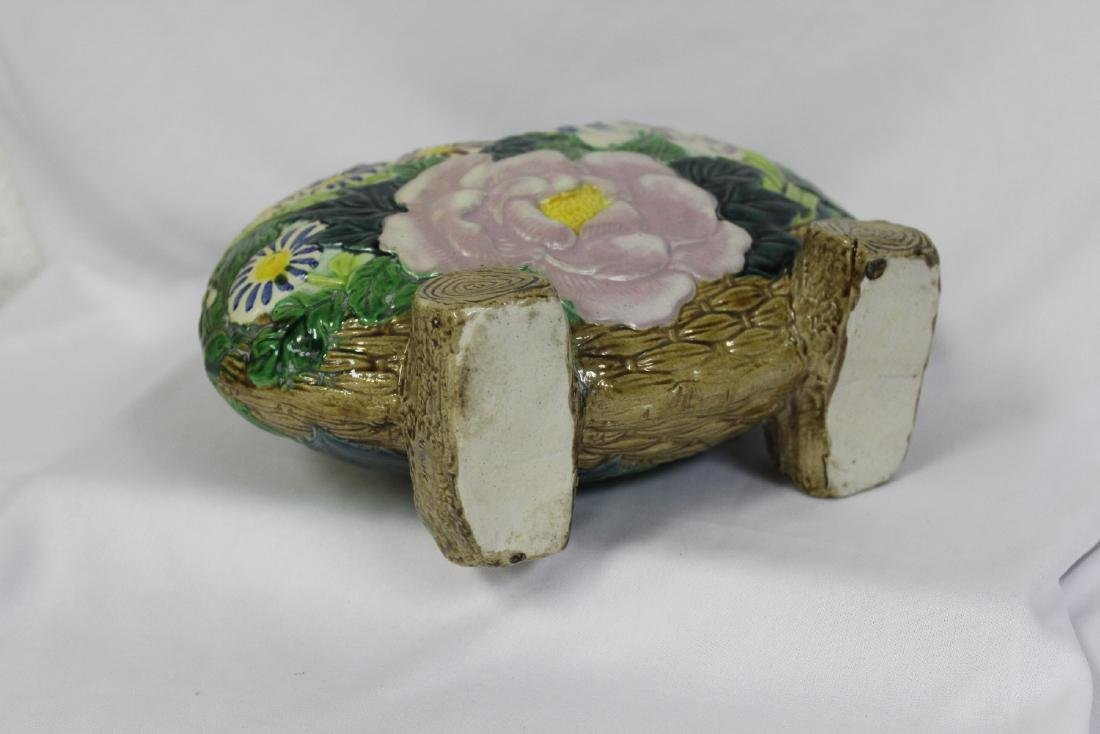 A Japanese Ceramic Ikebana Basket - 3