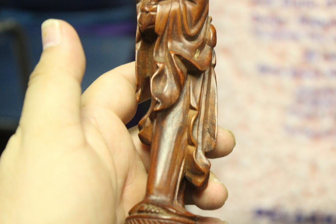 A Well Carved Chinese Wooden Figurine - 8