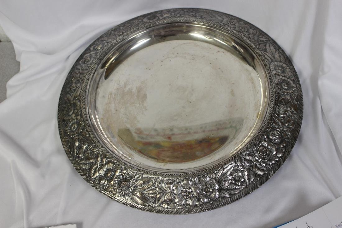 A Repousse Silverplate Tray