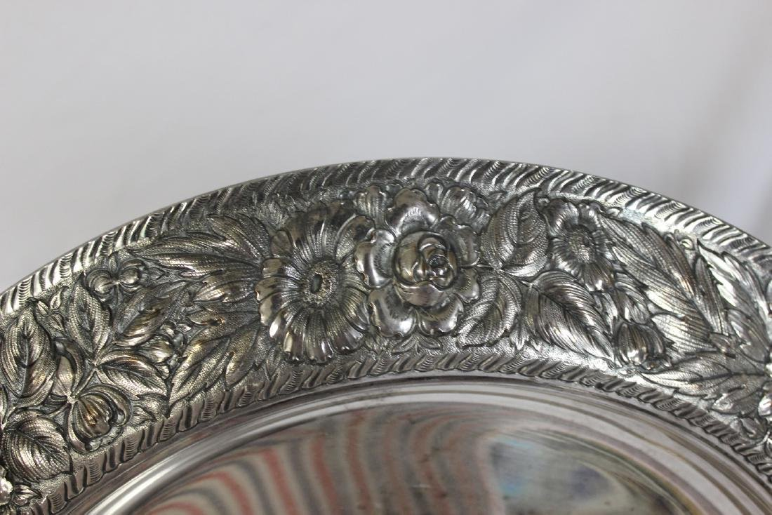 A Repousse Silverplate Tray - 2