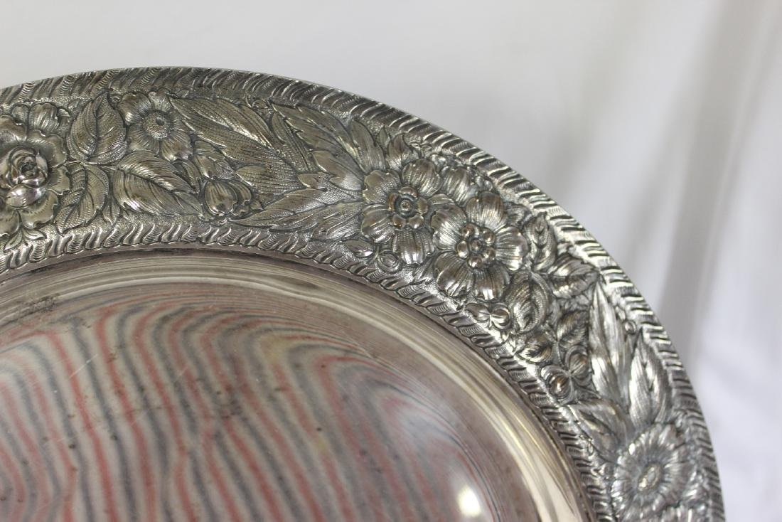 A Repousse Silverplate Tray - 3