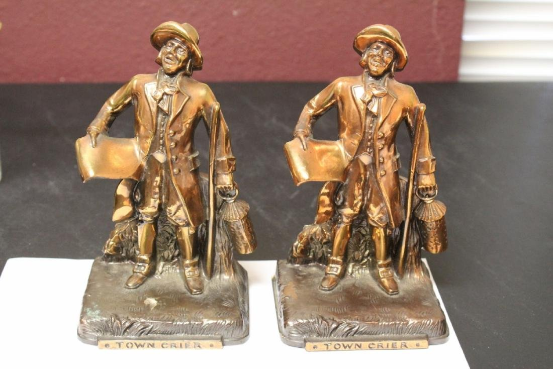 A Pair of Town Crier Bookends