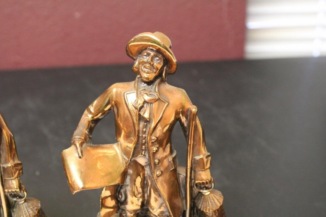 A Pair of Town Crier Bookends - 2