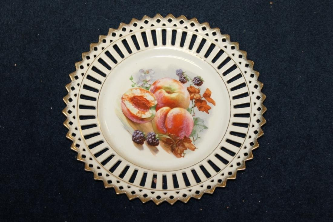 A Decorative Reticulated Plate - Unmarked