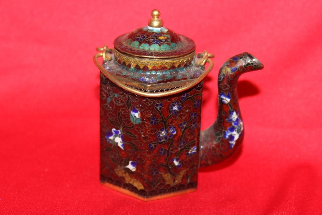 A Chinese Cloisonne Small Teapot