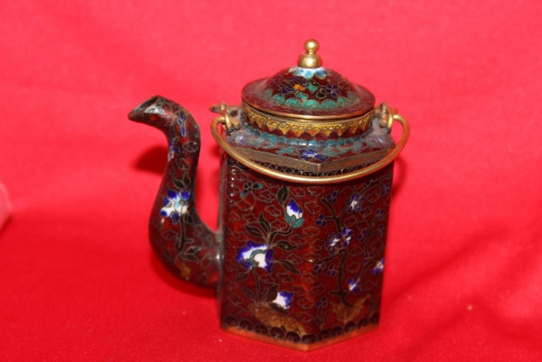 A Chinese Cloisonne Small Teapot - 2