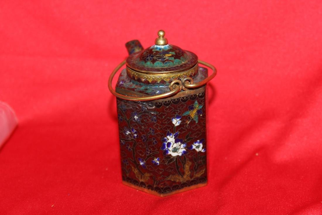 A Chinese Cloisonne Small Teapot - 3