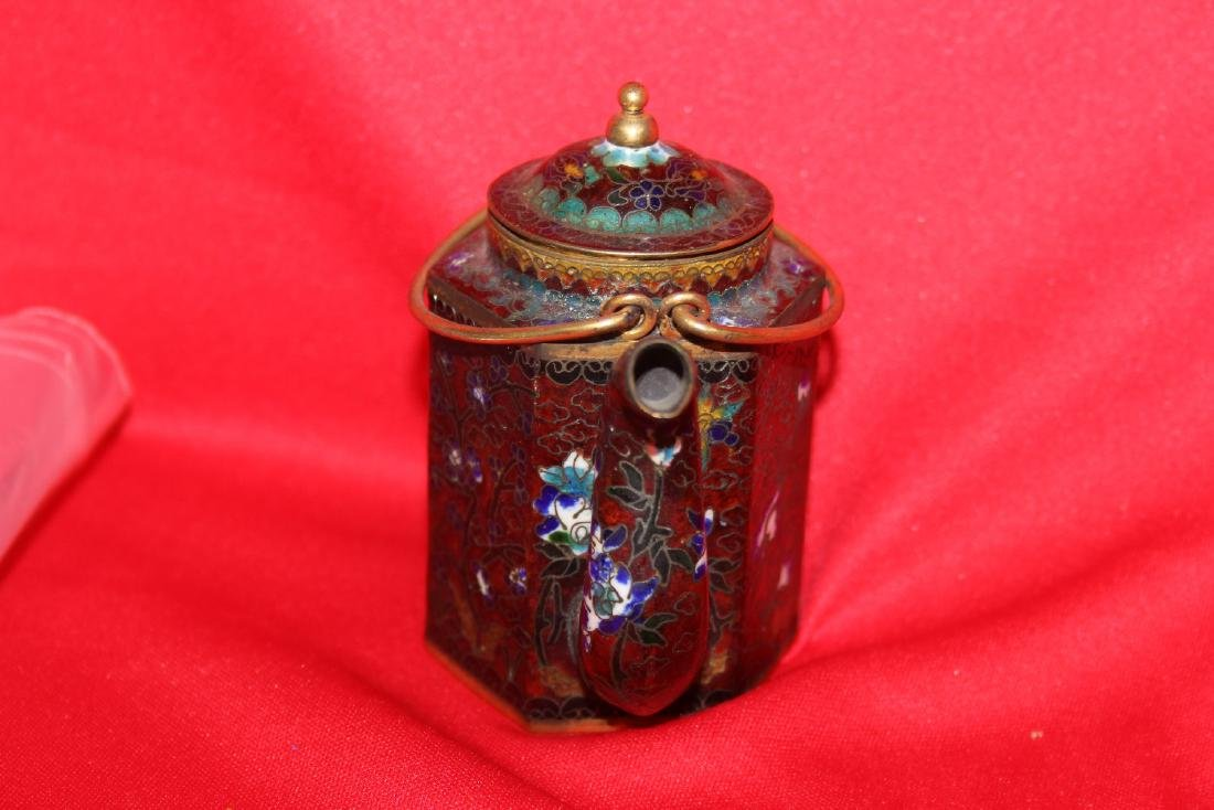 A Chinese Cloisonne Small Teapot - 4