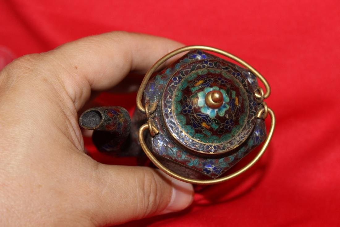 A Chinese Cloisonne Small Teapot - 5
