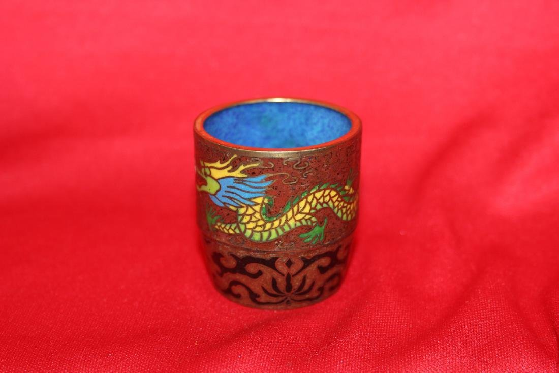 A Chinese Cloisonne Dragon Cup