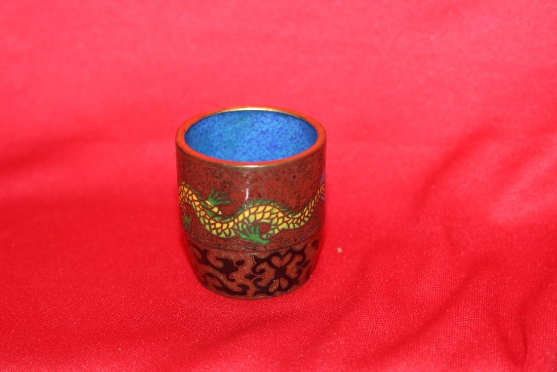 A Chinese Cloisonne Dragon Cup - 2