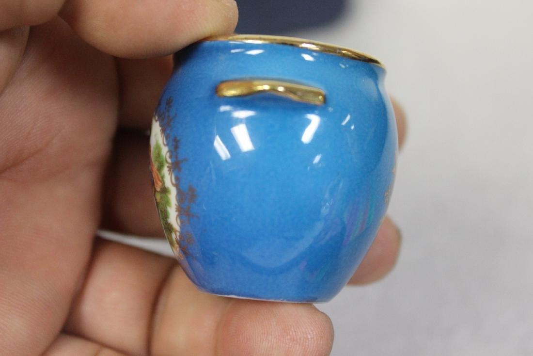 A Limoge Miniature Pot - 7