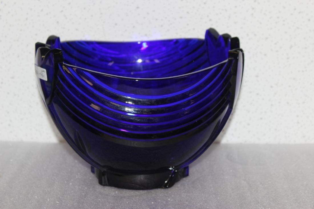 A Cobalt Blue Glass Bowl