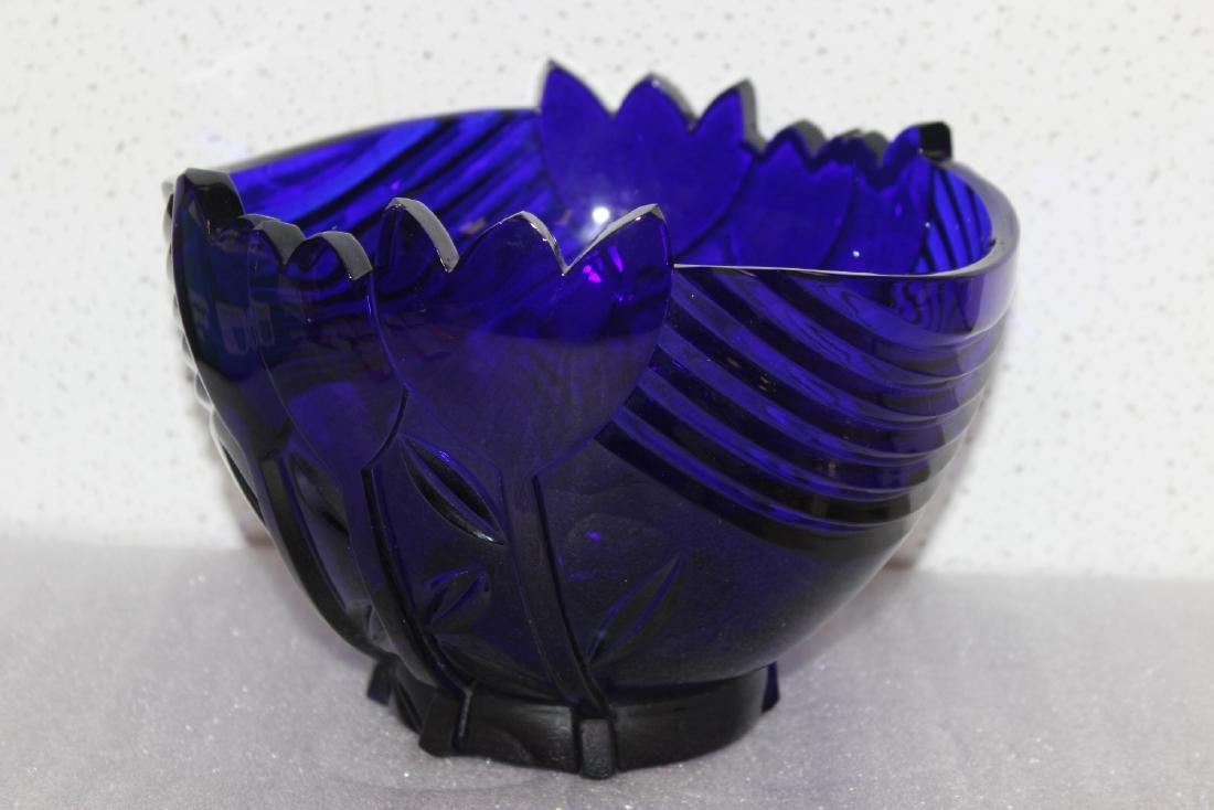 A Cobalt Blue Glass Bowl - 2