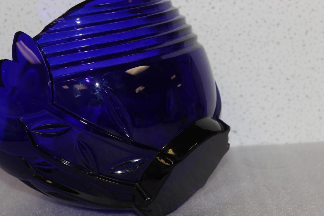 A Cobalt Blue Glass Bowl - 3
