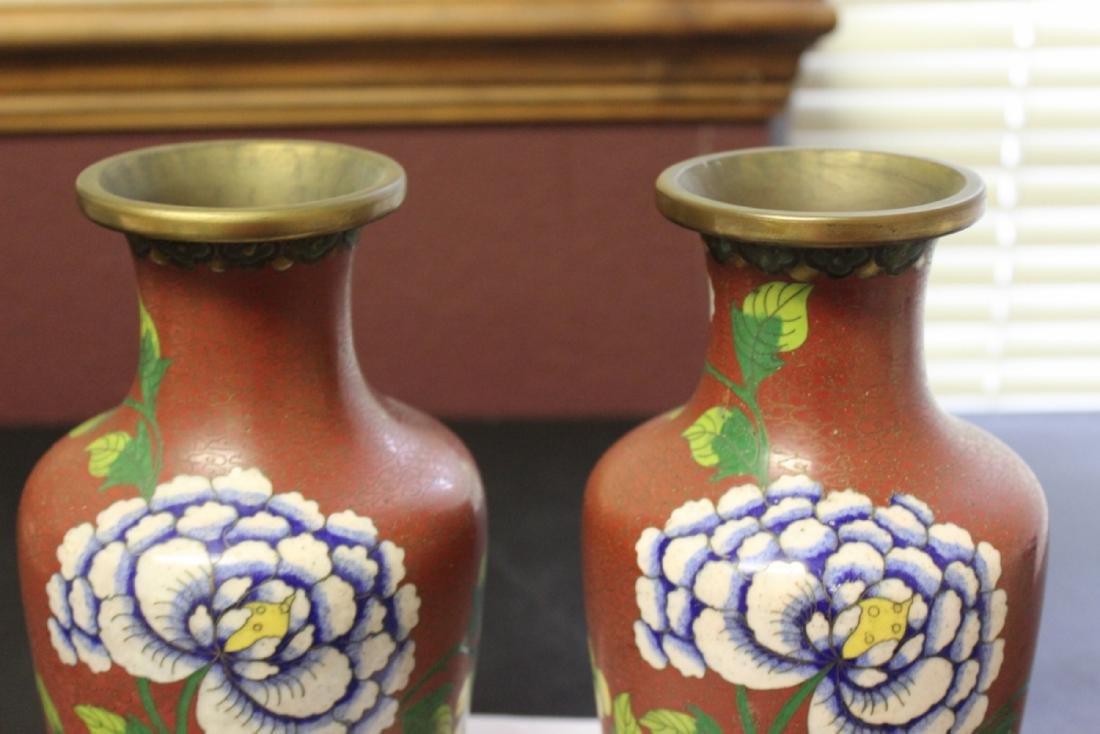 Lot of 2 Chinese Cloisonne Vases - Vintage - 2