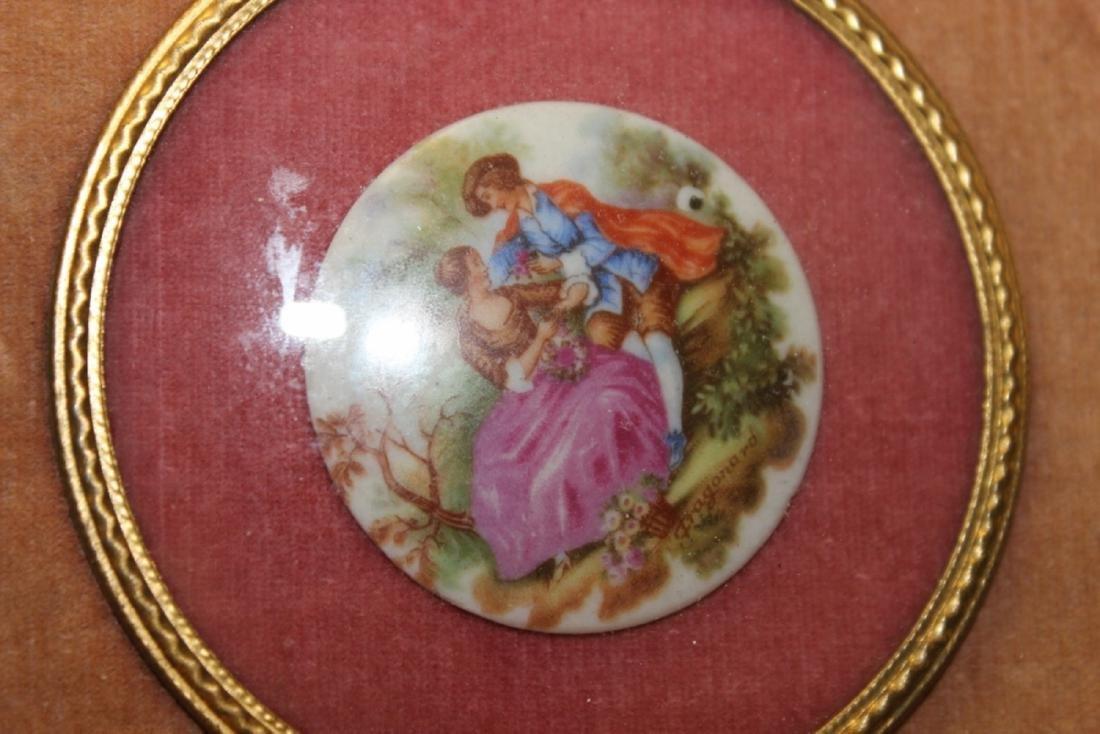 An Antique Porcelain Frame Small Plaque - 2