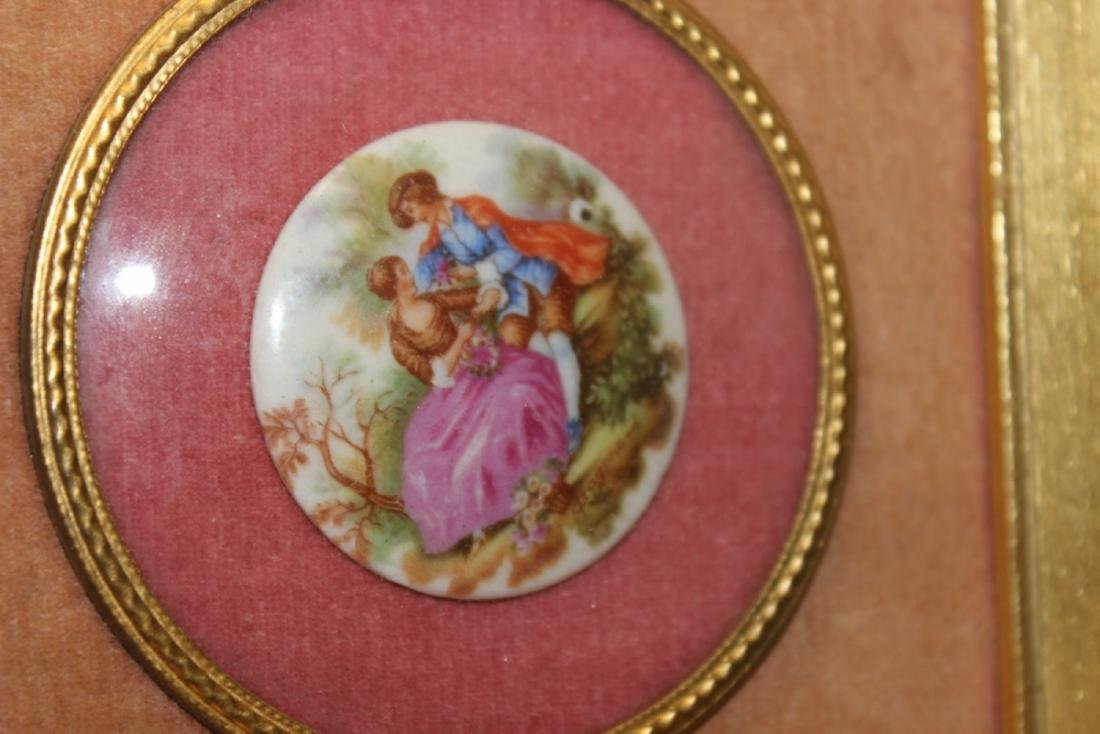 An Antique Porcelain Frame Small Plaque - 3