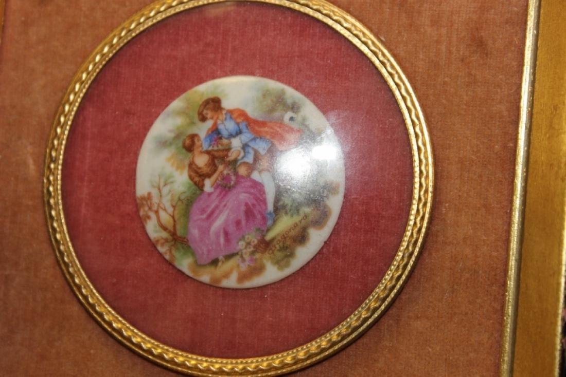 An Antique Porcelain Frame Small Plaque - 4