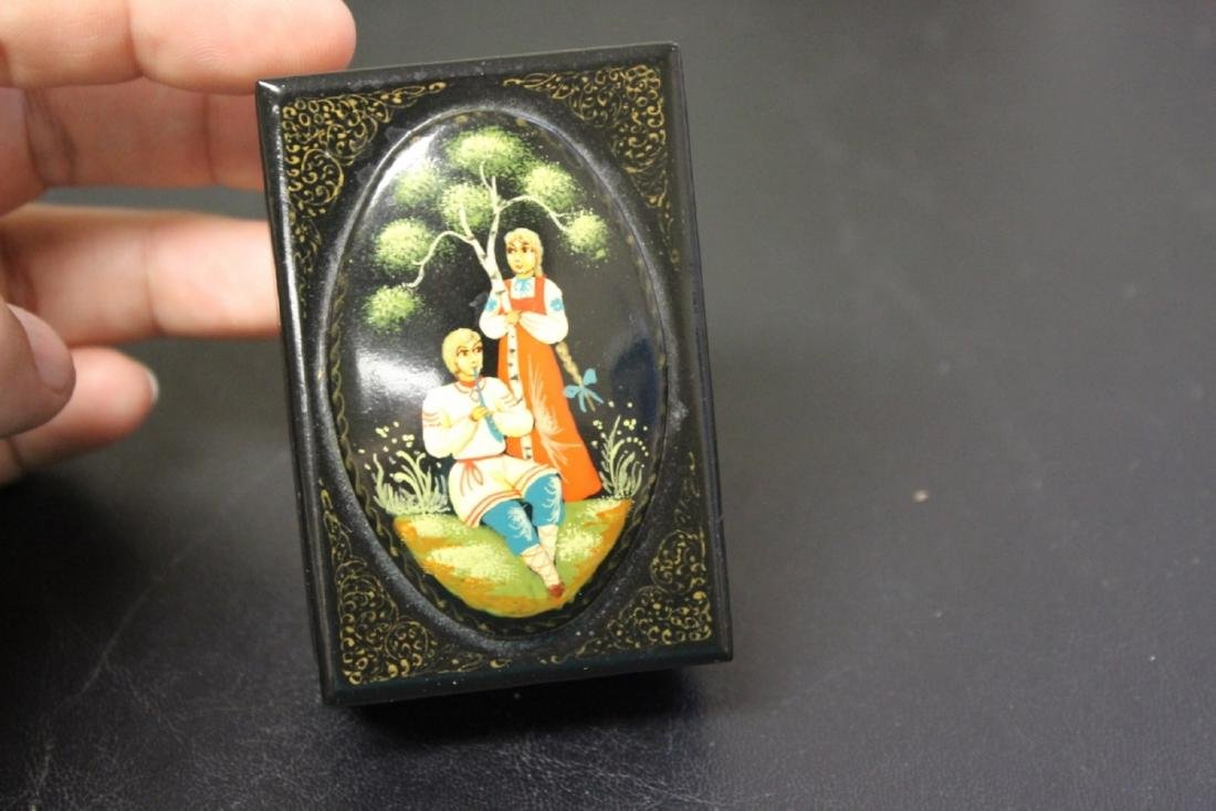 A Russian Folk Art Lacquer Box